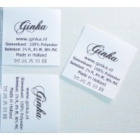 Nylon label 40x40 mm