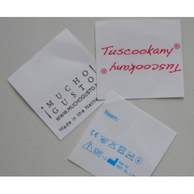 Sewing Labels White Nylon 40x40 mm or more