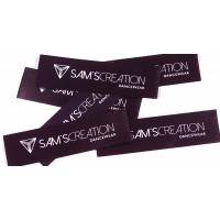 Satin sewing labels Black 60x20 mm