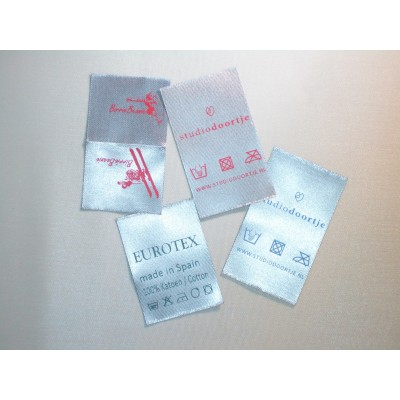 Satin sewing label silver gray 30x40 mm