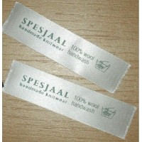 Satin Sew In labels white 60x15 mm