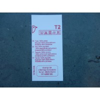 Polyester wit label 30x60 mm - tot 12 regels