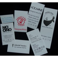 Sewing Labels White Nylon 50x35 mm