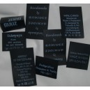 Black polyester label 35x50 mm - up to 11 lines