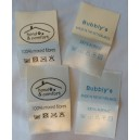 Satin sewing Labels ivory 30x50 mm