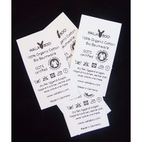 Sewing Labels White Nylon 55x30 mm