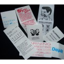 Sewing Labels White Poly 65x40 mm