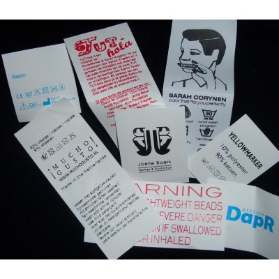 Sewing Labels White Polyester 40x65 mm