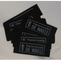 Innaai Labels Zwart Poly 75x25 mm