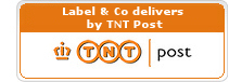 Label and Co ships with TNT Express and PostNL