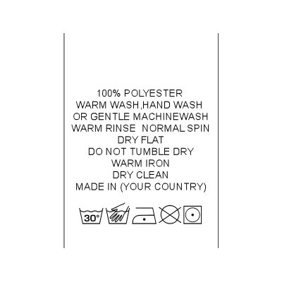Stock Care Labels
