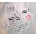 Sewing Labels White Poly 50x30 mm