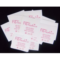 Nylon wit label 35x35 mm - tot 6 regels